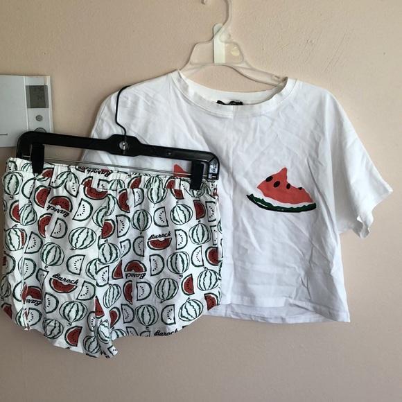 263ed42095 SHEIN Intimates & Sleepwear   Crop Pajama Set   Poshmark